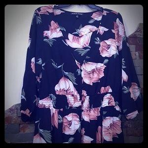 Dark Floral Prairie Dress NWT by Always Indigo